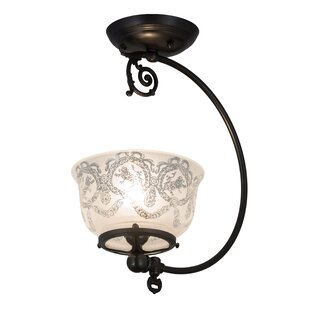 August Grove Moshier Gas Reproduction 1-Light Semi Flush Mount
