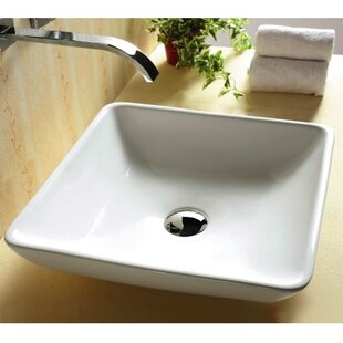 Affordable Ceramica Ceramic Square Vessel Bathroom Sink By Caracalla