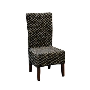 St. Lucia Seagrass Dining Chair (Set of 2) by Rosecliff Heights