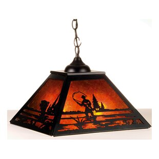 Fly Fishing Creek 2-Light Square/Rectangle Chandelier by Meyda Tiffany