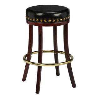 Amoroso Beechwood Backless Bar Stool by Red Barrel Studio Bargain
