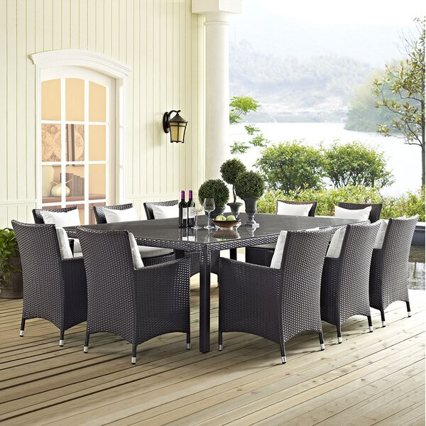 Bwood 11 Piece Dining Set With