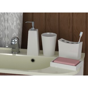 Corrigan Studio Latoya 4 Piece Bathroom Accessory Set