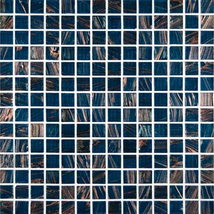 0 75 X Gl Mosaic Tile In Blue Iridescent