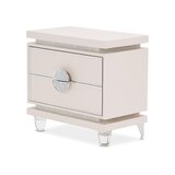 Glimmering Heights 2 Drawer Nightstand by Michael Amini / Jayne Seymour Living