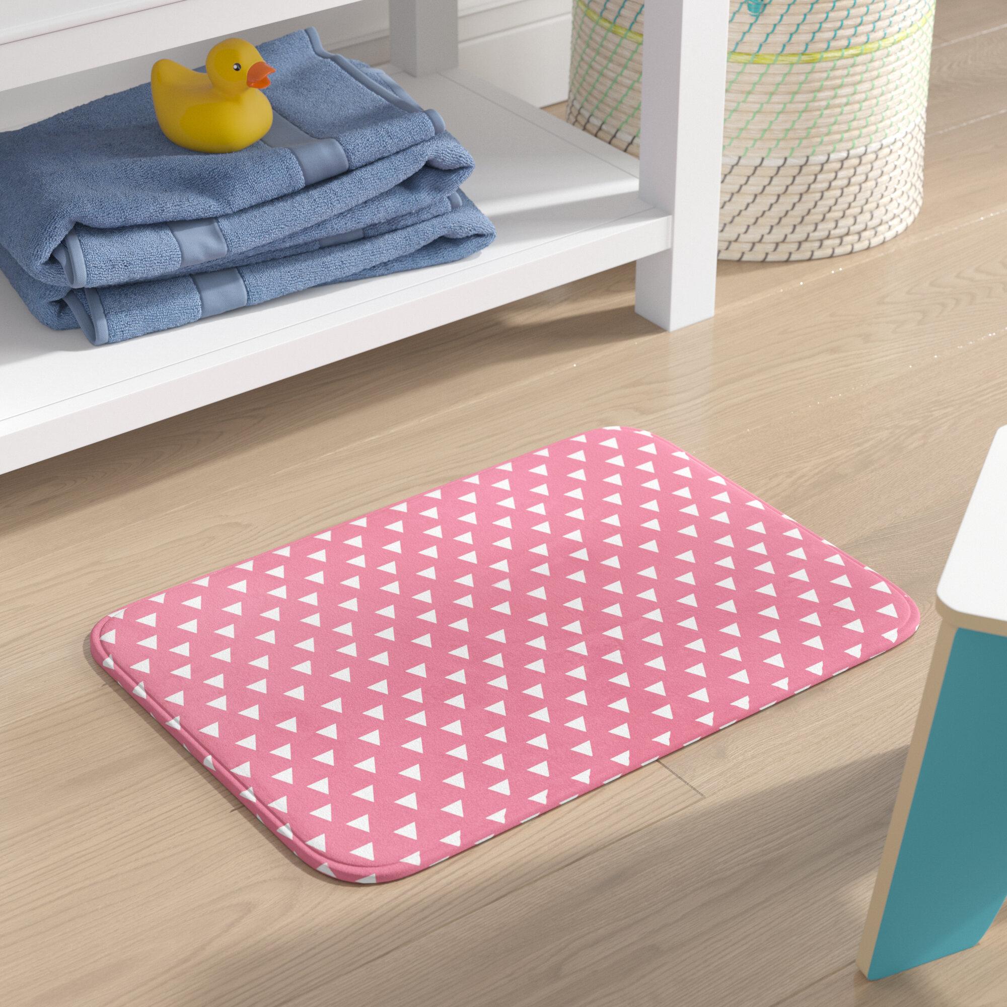 Geometric Pink Bath Rugs Mats You Ll Love In 2021 Wayfair