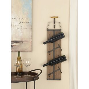 Dimond 4 Bottle Wall Mounted Wine Rack