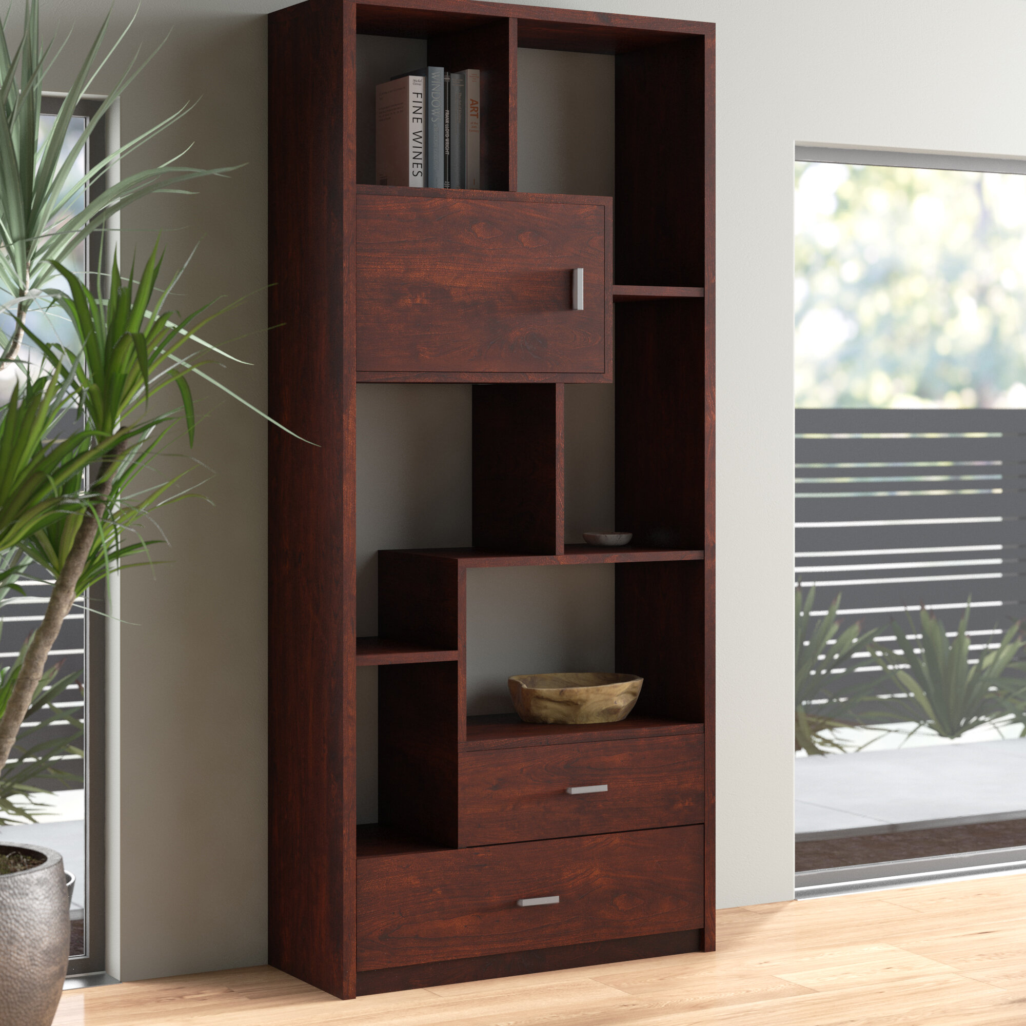 Aitana Geometric Bookcase