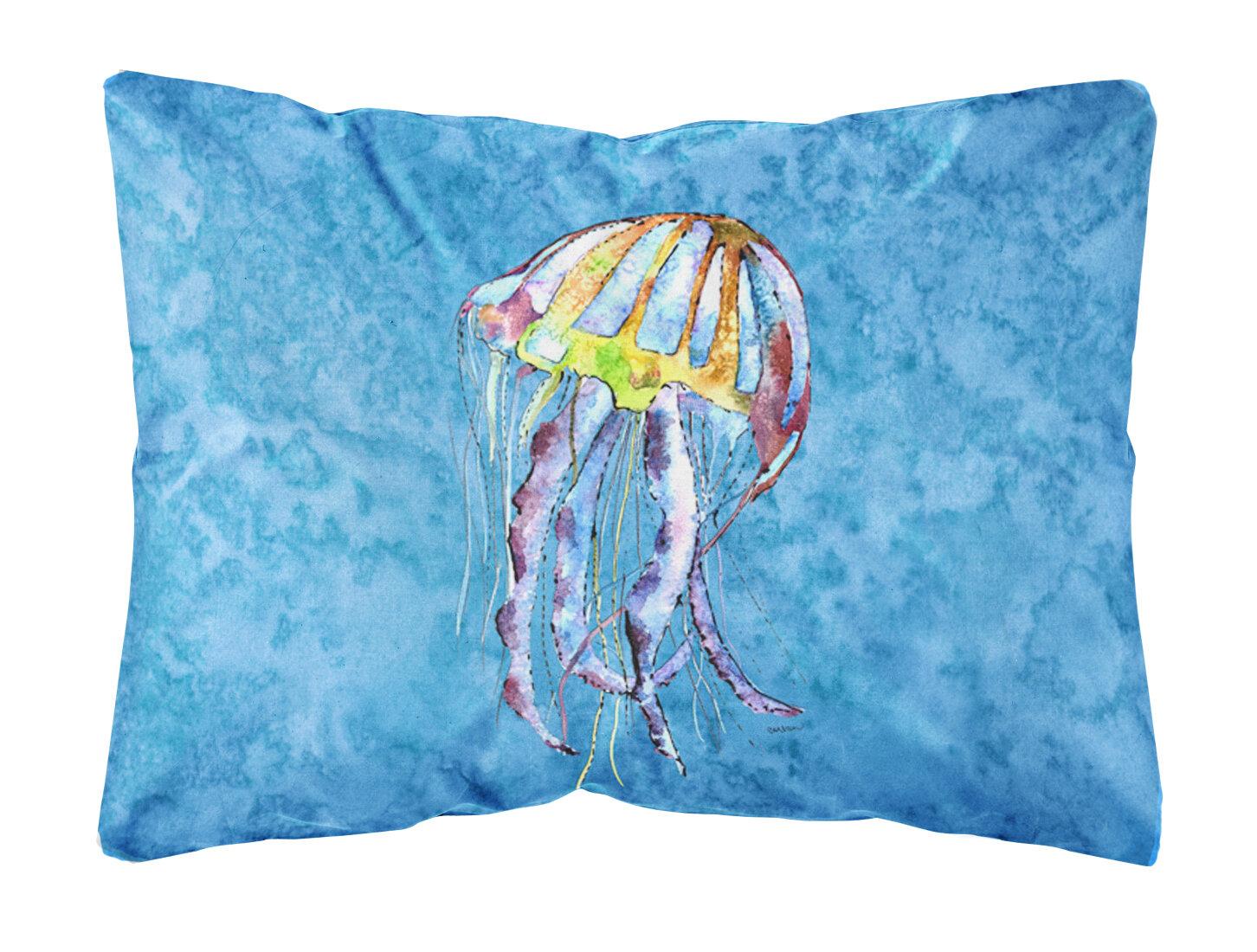 Caroline S Treasures Jellyfish Indoor Outdoor Throw Pillow Wayfair