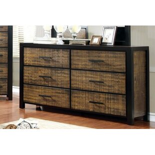 Serita Plushy Bold 6 Drawer Double Dresser
