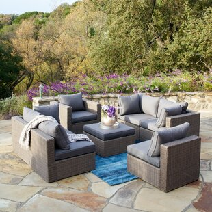 Braintree 7 Piece Rattan Sectional Seating Group with Cushions