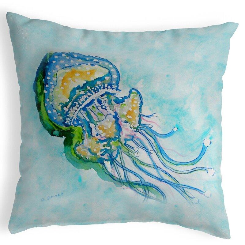 Highland Dunes Shubert Alley Jelly Fish Indoor Outdoor Lumbar Pillow Wayfair