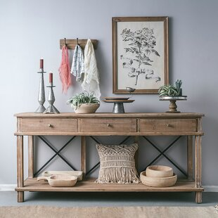 Gracie Oaks Chestertown Timber Console Ta..