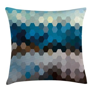 Winter Geometric Puzzle Blurry Pillow Cover