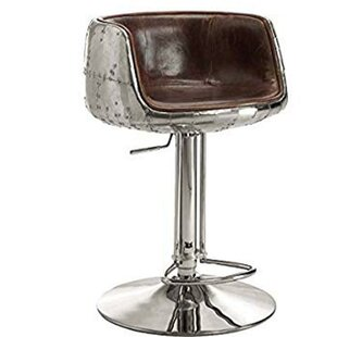 Aldora Comfy Adjustable Height Swivel Bar Stool by 17 Stories