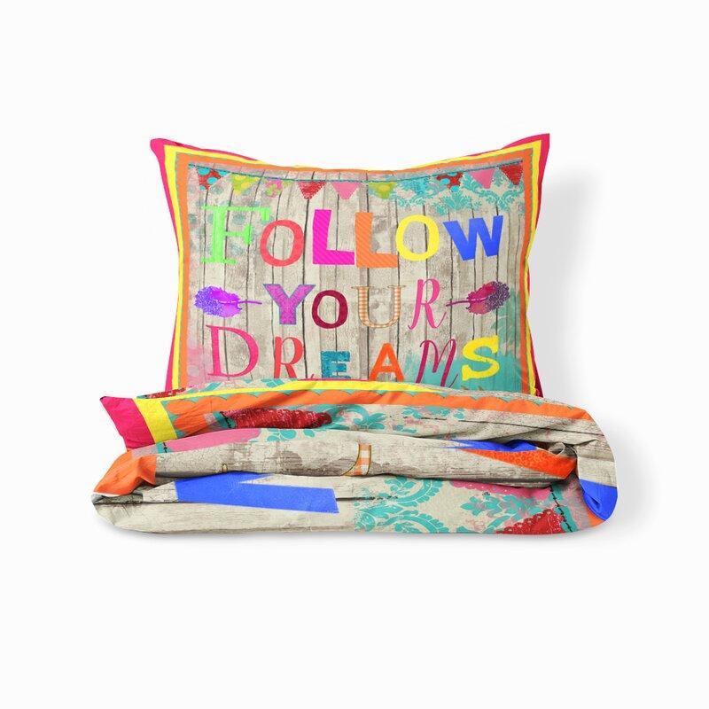 Rosalind Wheeler Zapata Follow Your Dreams Duvet Cover Set Wayfair