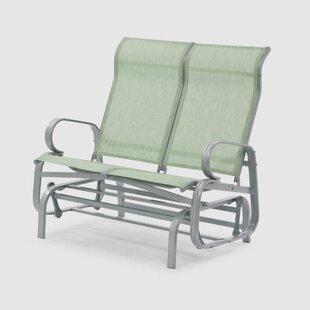Lasne Steel Glider Bench By Sol 72 Outdoor