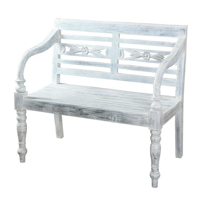 August Grove Azalea Teak Bench  Color: Grey