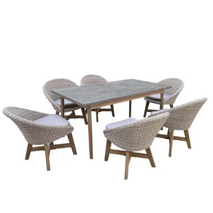 Crowl 7 Piece Outdoor Dining Set by Corrigan Studio
