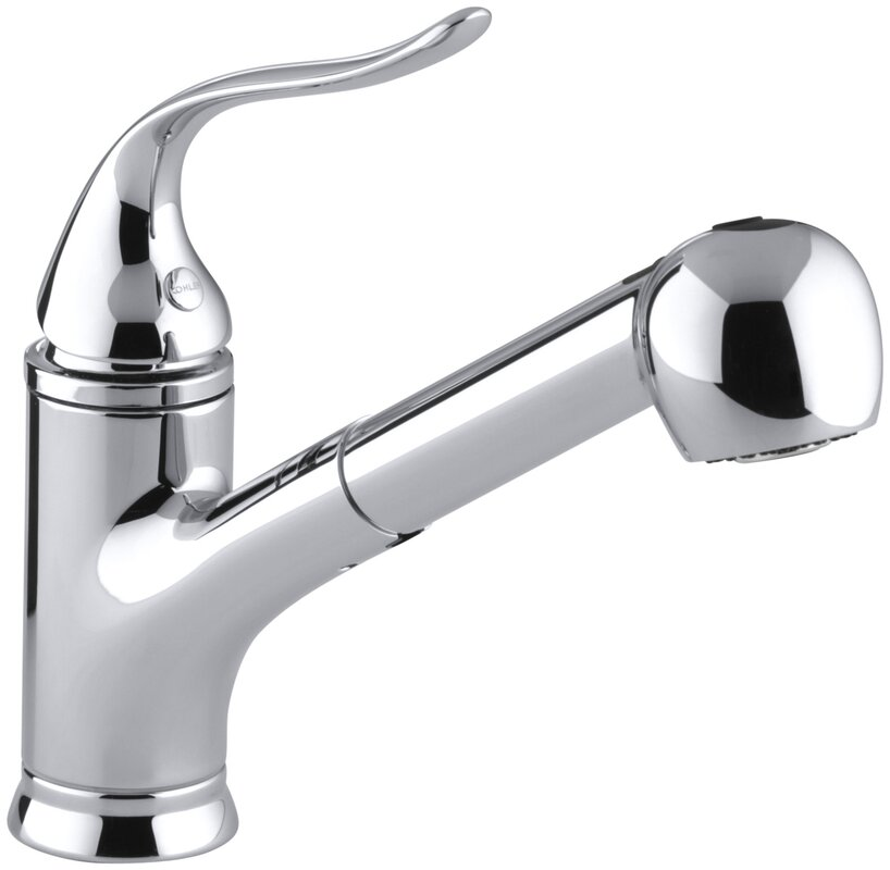 Coralais Pullout Single Handle Kitchen Faucet With MasterClean™