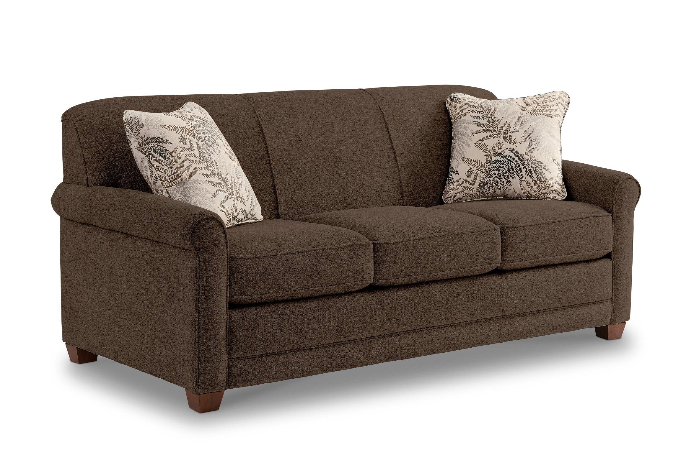 la z boy amanda 79 round arms sofa bed lz