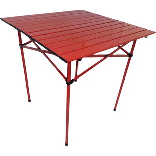 Bergerson Portable Dining Table in Red