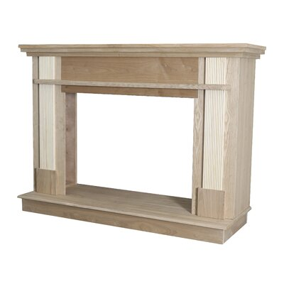 Unfinished Wood Fireplace Mantel Surround Ashley Hearth