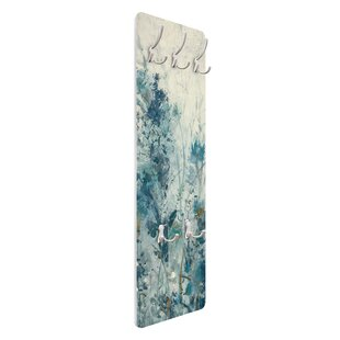 Blue Spring Meadow I Wall Mounted Coat Rack By Symple Stuff