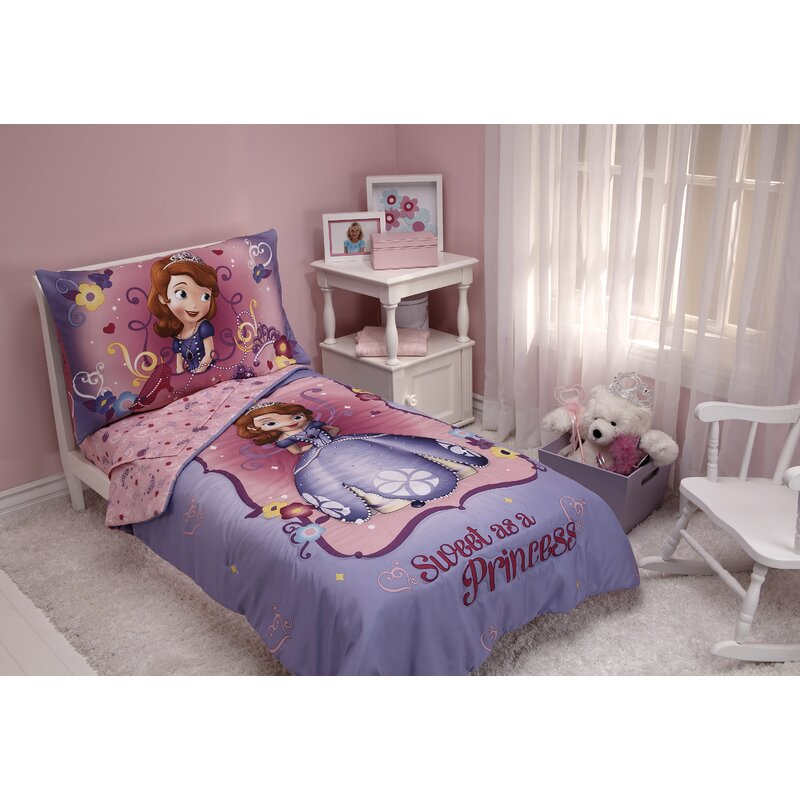 Disney Sweet As A Princess 4 Piece Toddler Bedding Set Reviews Wayfair
