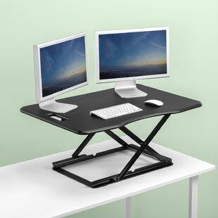 Kallas Smart Standing Desk Converter by Symple Stuff Sale