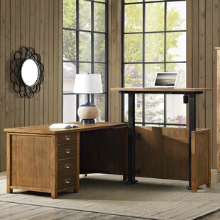 Barnett L-Shape Executive Desk by Gracie Oaks Coupon