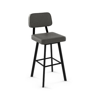 Cloran 30 Swivel Textured Black Bar Stool 17 Stories