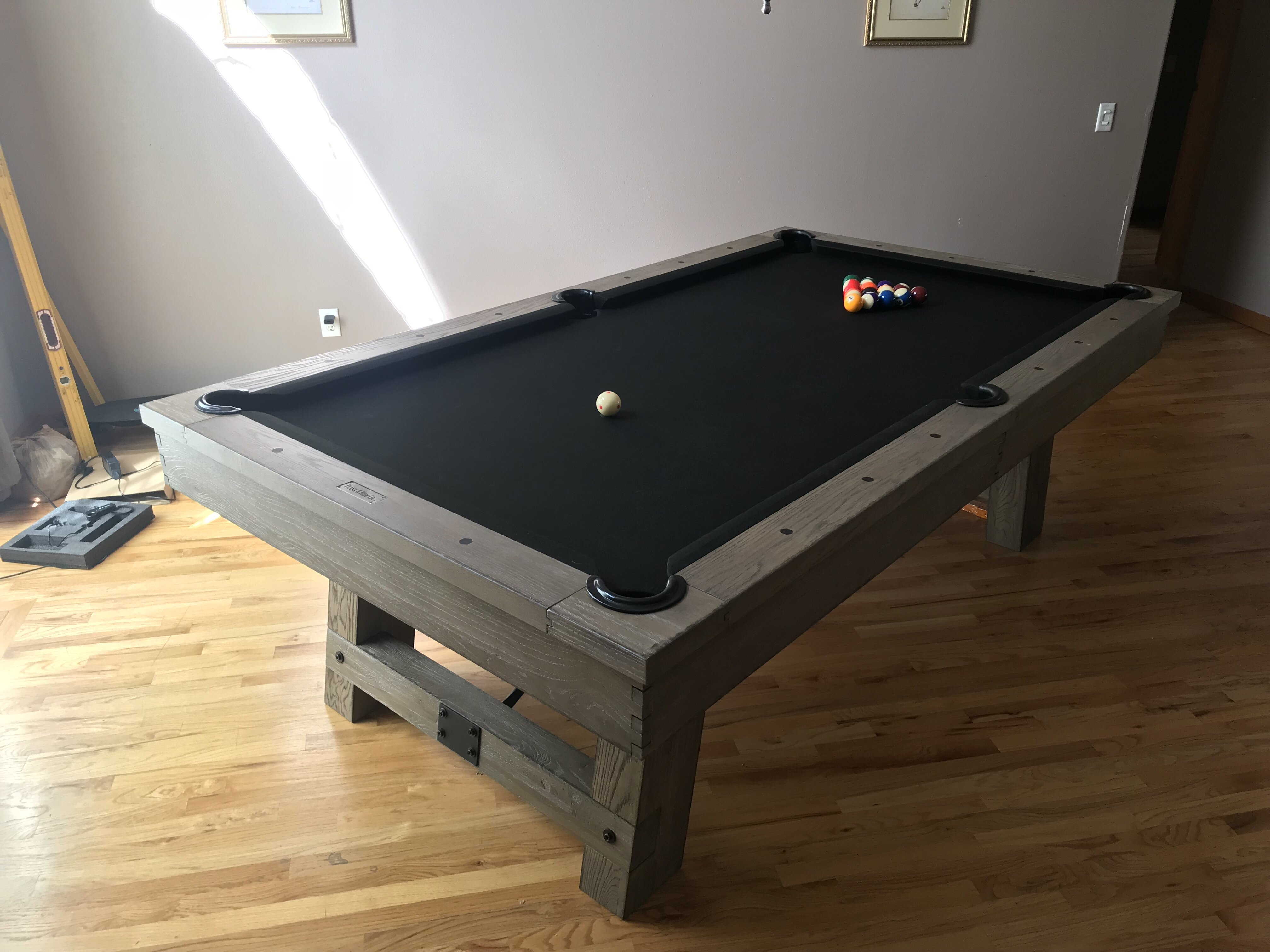 Plank & Hide Isaac 7' Slate Pool Table With Professional