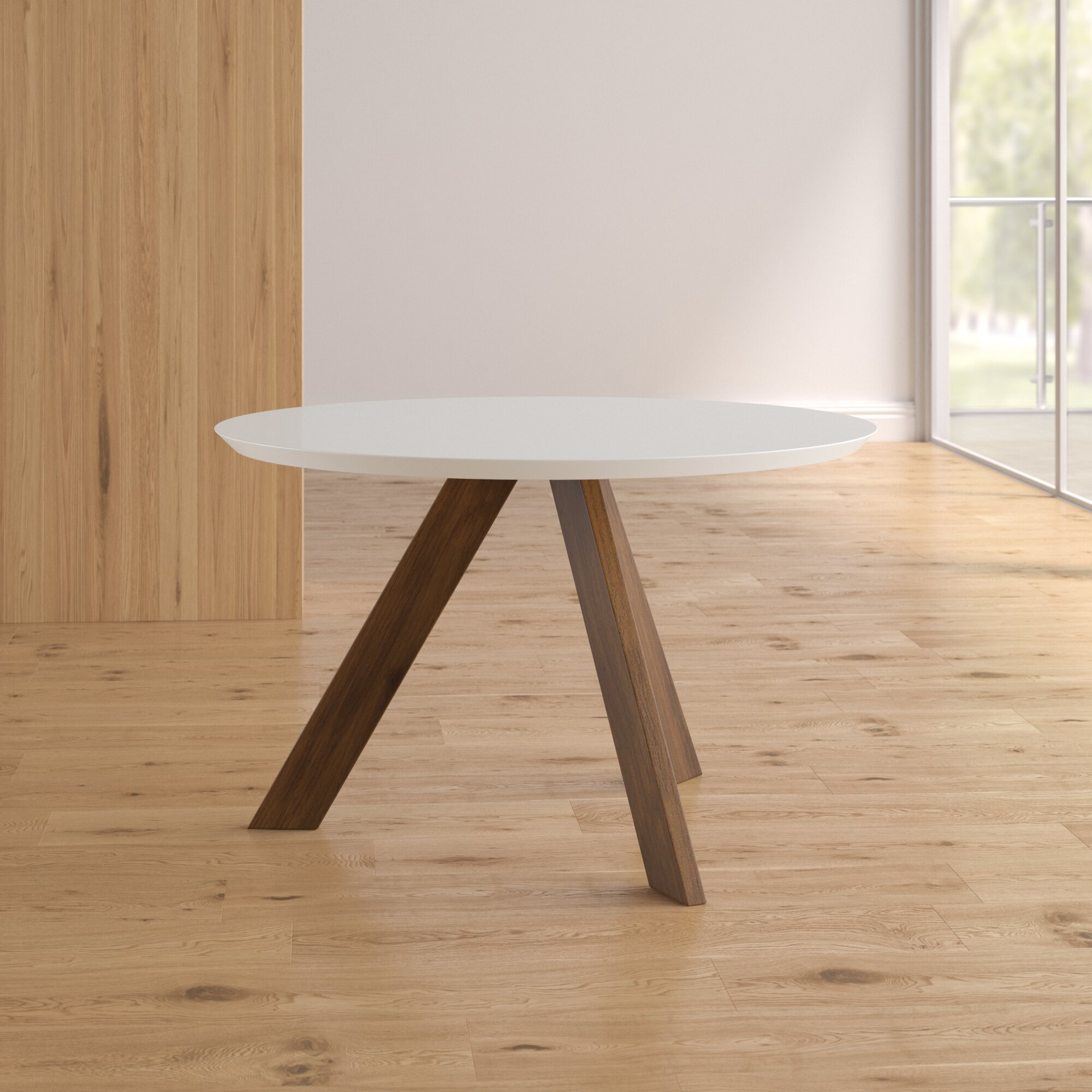 Wrought Studio Ramsay Mid Century Modern Dining Table U0026 Reviews | Wayfair
