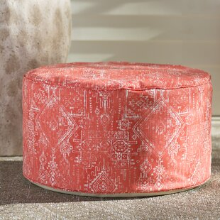 Patio Outdoor 24 Round Pouf Ottoman by Bungalow Rose