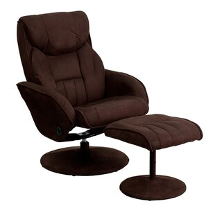 Jeannetta Manual Swivel Glider Recliner with Ottoman Latitude Run
