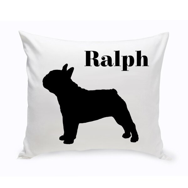 Jds Personalized Gifts Personalized French Bulldog Classic Silhouette Throw Pillow Reviews Wayfair