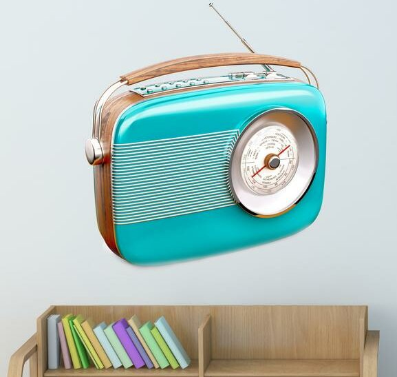 Style And Apply Old Radio Wall Decal Wayfair