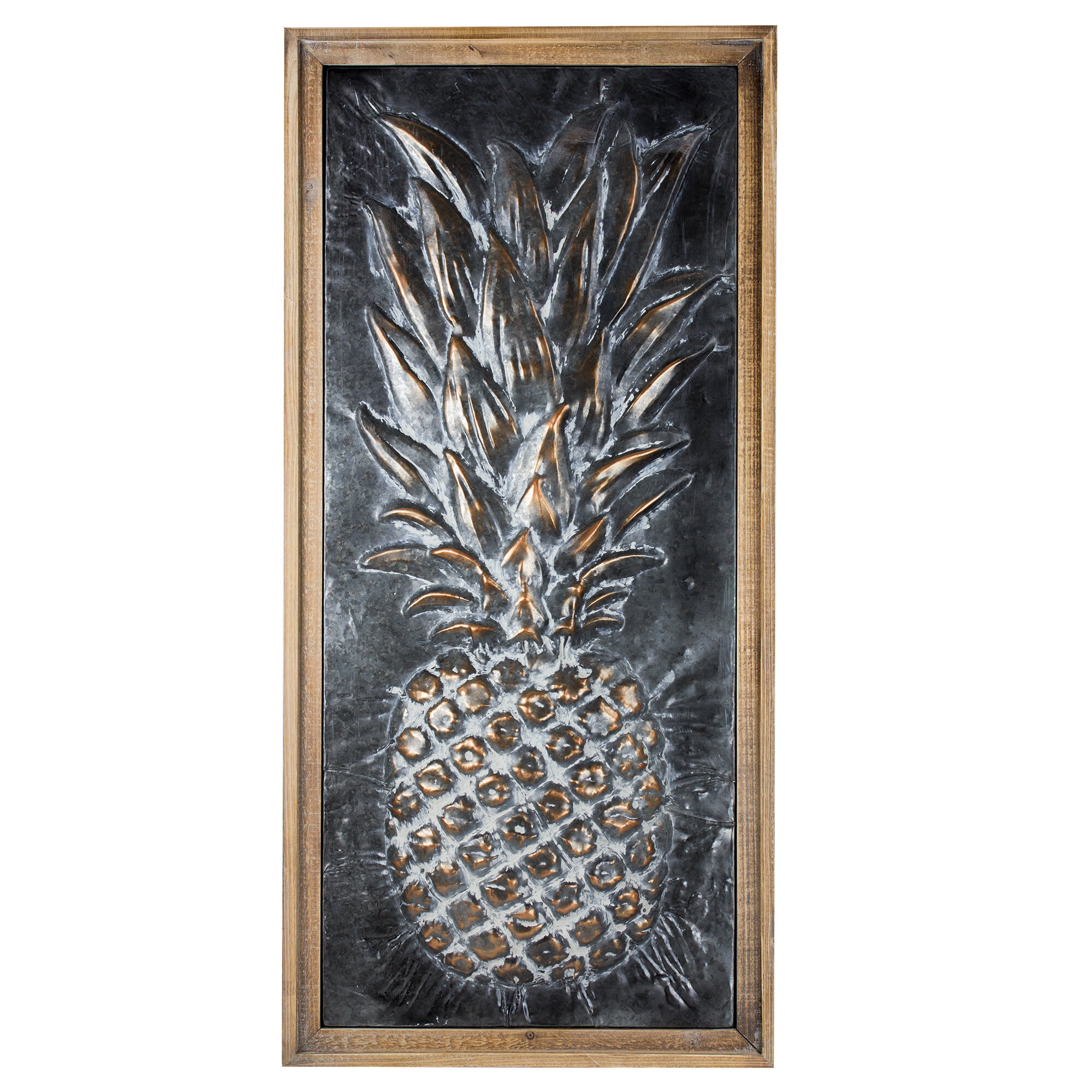 Bayou Breeze Metal Pineapple Wall Dcor Wayfair