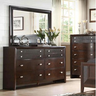 Bay Hill 8 Drawer Double Dresser with Mirror