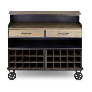 Struble Wood and Metal Crafted Sideboard