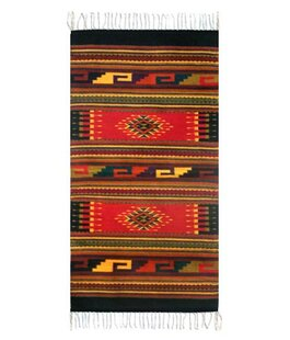 Best Price Weare Ancestral Hand-Woven Wool Red/Black Area Rug ByMillwood Pines