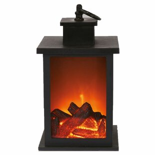 Fireplace LED Lantern By Symple Stuff