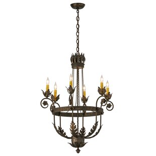 Meyda Tiffany Greenbriar Oak 6-Light Chandelier