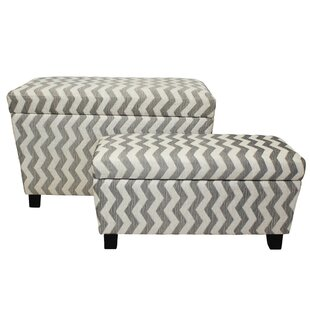 2 Piece Storage Ottoman Set by Urban Designs