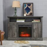Fuqua TV Stand for TVs up to 55 with Electric Fireplace Included by Gracie Oaks