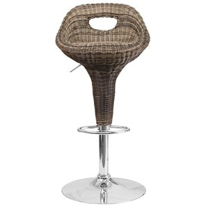 Aqueduct Adjustable Height Swivel Bar Stool by Highland Dunes