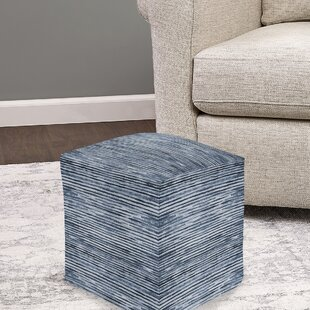 Pirkle Stripe Pouf by Wrought Studio