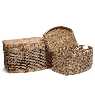 2 Piece Seagrass Chest Basket Set