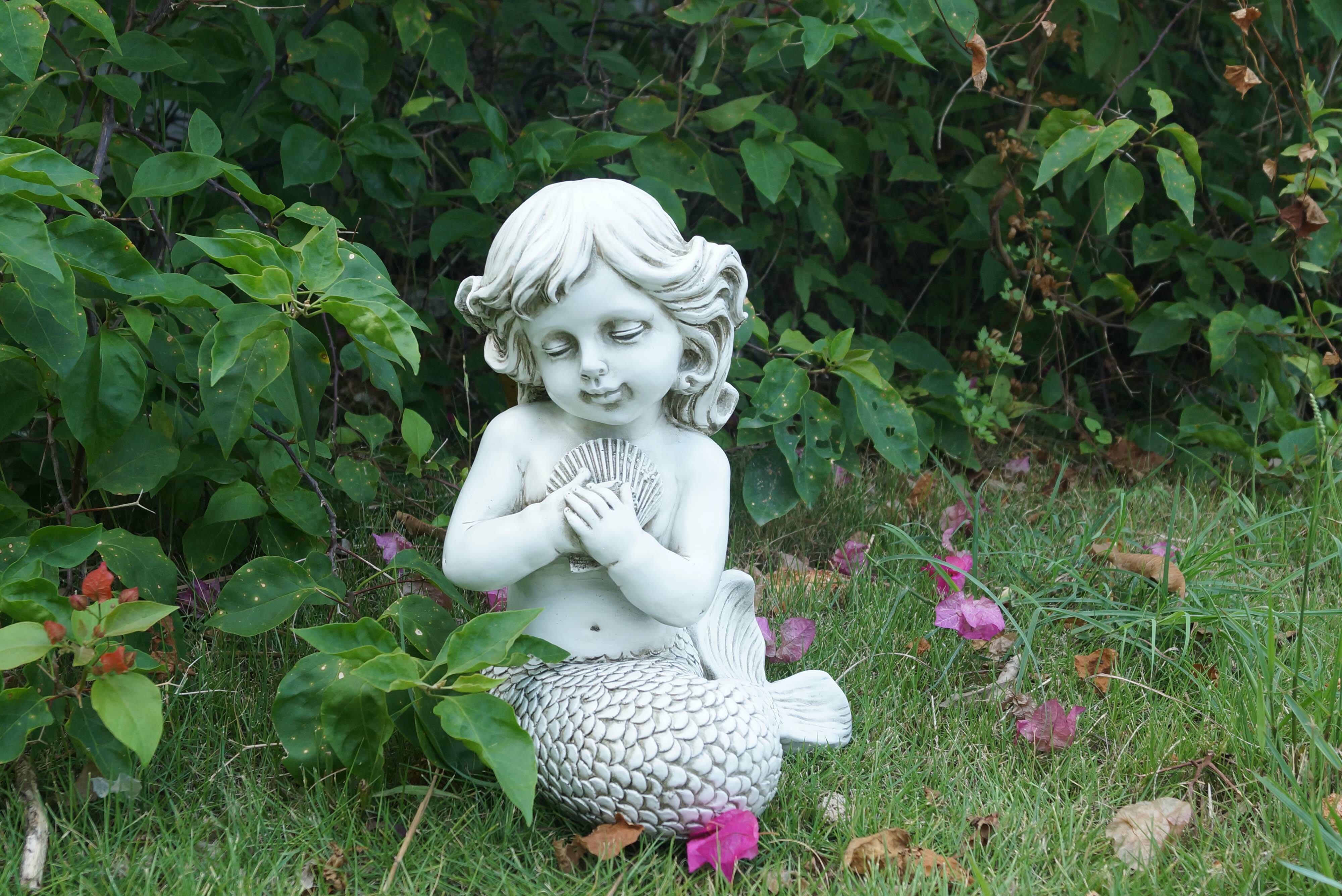 Hi Line Gift Ltd Mermaid Kneeling Holding Shell Statue Reviews Wayfair